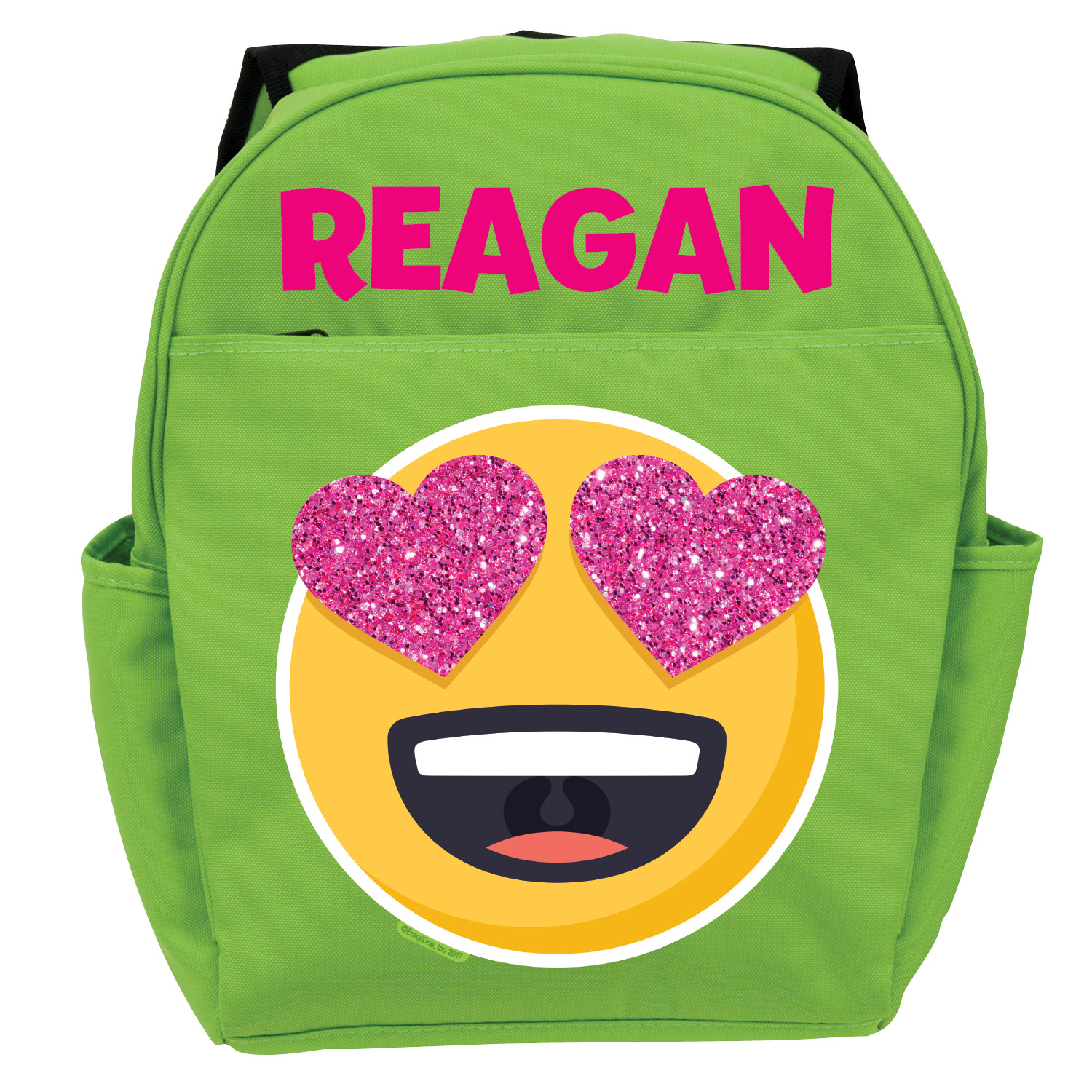 Emoji Full Of Love Green Backpack