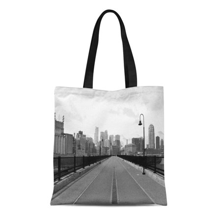 SIDONKU Canvas Tote Bag Minnesota Stone Arch Bridge Downtown Minneapolis Unique Reusable Handbag Shoulder Grocery Shopping