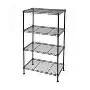 "SEVENTH Wire Shelving Unit and Storage, 4-Tier Metal Storage Rack, Adjustable Kitchen Storage Rack Organizer, Backers Rack for Kitchen Garage Closet Pantry Laundry Bathroom, 19.69""x11.8""x31.5"", Q633"