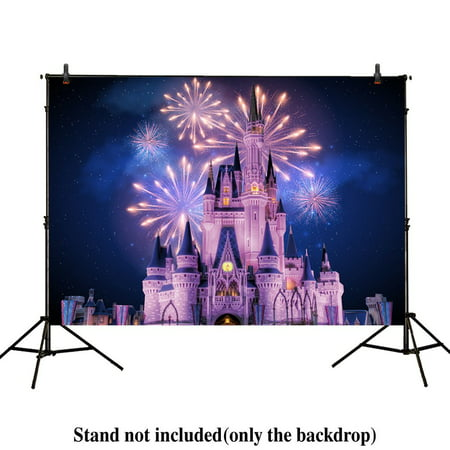 GreenDecor Polyster 7x5ft photography backdrops Beautiful Princess Prince Castle night Fireworks Birthday party banner photo studio booth background newborn baby shower photocall - Prince And Princess Party