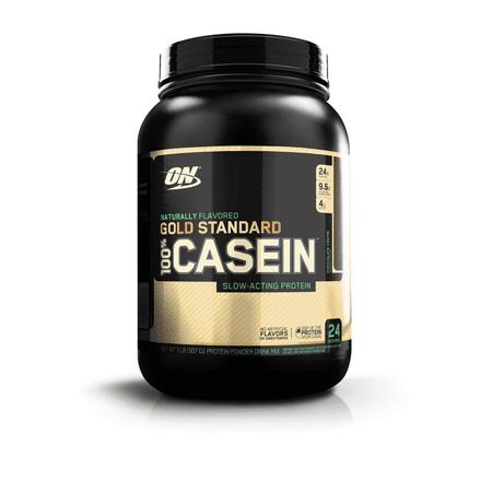 Optimum Nutrition Gold Standard 100% Natural Casein Protein Powder, Chocolate Creme, 24g Protein, 2 Lb (Optimum Casein 2 Pound)