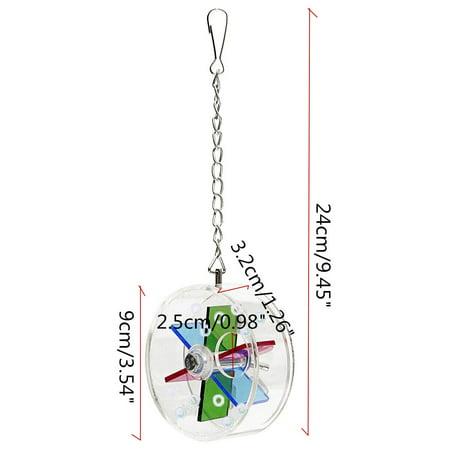 Marsin Wheel-shaped Pet Bird Toys Parrot Canary Hanging Foraging Entertainment Toys - image 5 de 6