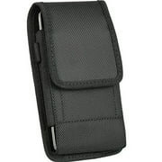 Heavy Duty Metal Clip Holster Black Nylon Pouch Cell Phone Case + D Ring HookFor Samsung Galaxy S3 mini , S4 mini