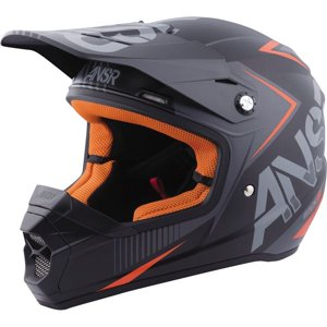 Charcoal|Black|Orange Sz S Answer Racing SNX 2 Graphic Helmet