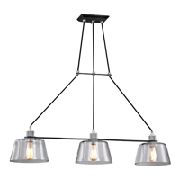 RLA Troy RL-179054 Pendants Old Siler and Polished Aluminum Hand-Worked Iron and Aluminum and Glass Audiophile