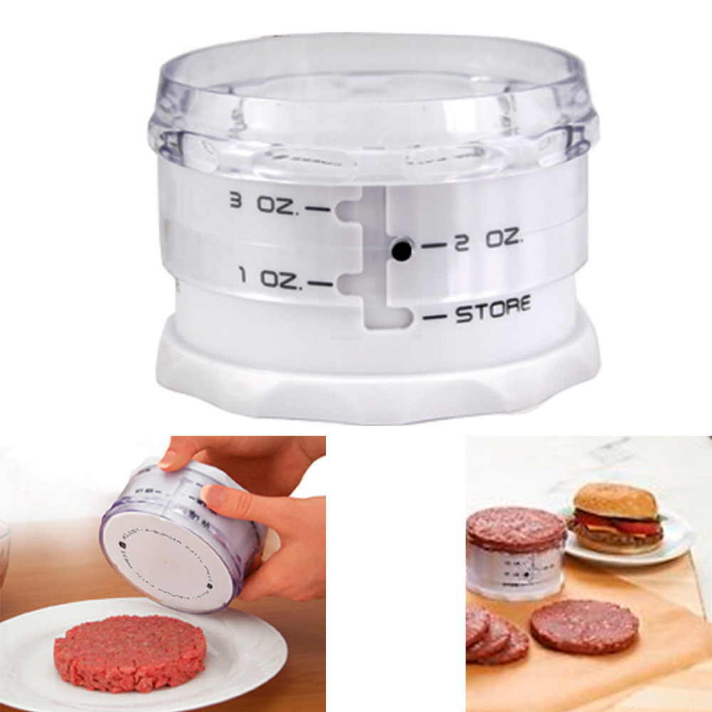 Adjust A Burger Mini Adjustable Slider Hamburger Patty Maker Press Set 1    3 OZ   Walmart.com