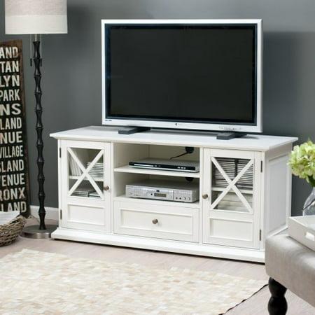 belham living hampton 55 inch tv stand white. Black Bedroom Furniture Sets. Home Design Ideas