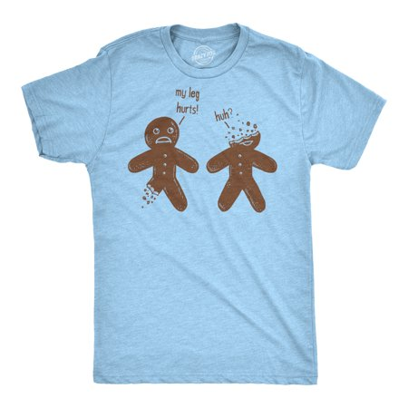 Mens Gingerbread Injury Tshirt Funny Christmas Cookie Gingerbreadman Tee For Guys