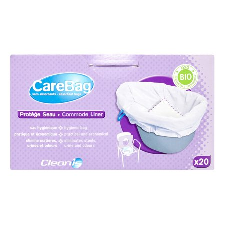 Carebag Commode Liner Absorbent Bags  20 Ct