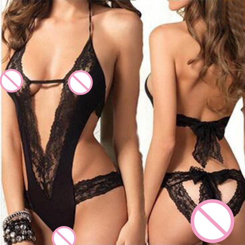 Women sexy lingerie set lace perspective open bra crotch sexy costume babydoll erotic lingerie underwear sex toy lenceria Teddy