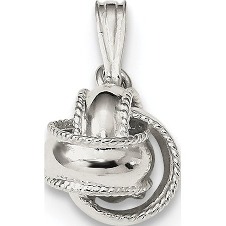 Leslies Fine Jewelry Designer 925 Sterling Silver Polished Love Knot (10x17mm) Pendant Gift
