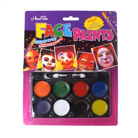 Face and Body Art Paint 8 Colors Set [Health and Beauty] - Women Body Paint