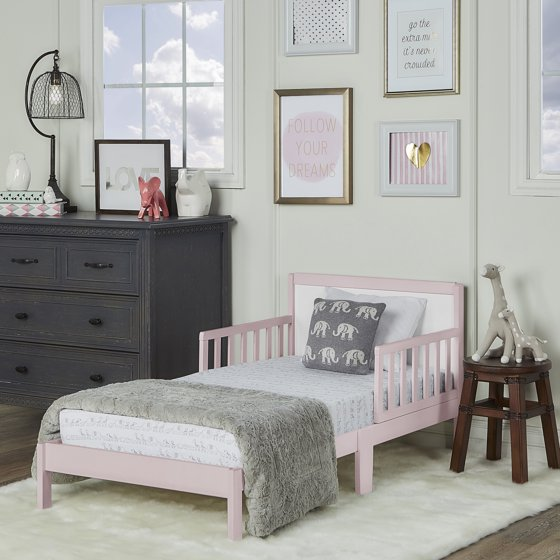Dream On Me Brookside Toddler bed, Blush Pink/White - Walmart.com