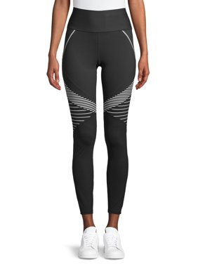 Avia Women's Active Performance Flex Tech Bold Stripe Leggings