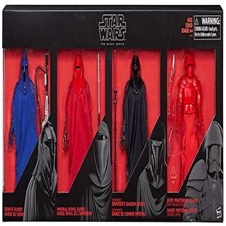 Star Wars Black Series Senate Guard, Imperial Royal Guard, Emperor's Shadow Guard & Elite Praetorian Guard Action Figure