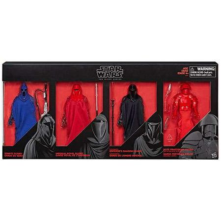 Star Wars Black Series Senate Guard, Imperial Royal Guard, Emperor's Shadow Guard & Elite Praetorian Guard Action Figure 4-Pack