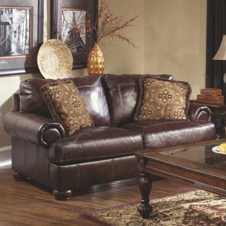 Signature Design By Ashley Axiom Leather Loveseat Walmartcom