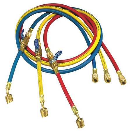 Manifold Hose Set,60 In,Red,Yellow,Blue YELLOW JACKET 25985