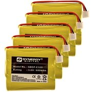 Synergy Digital Cordless Phone Batteries - Replacement for GP GP60AAS3BMJ Cordless Phone Battery (Set of 5)