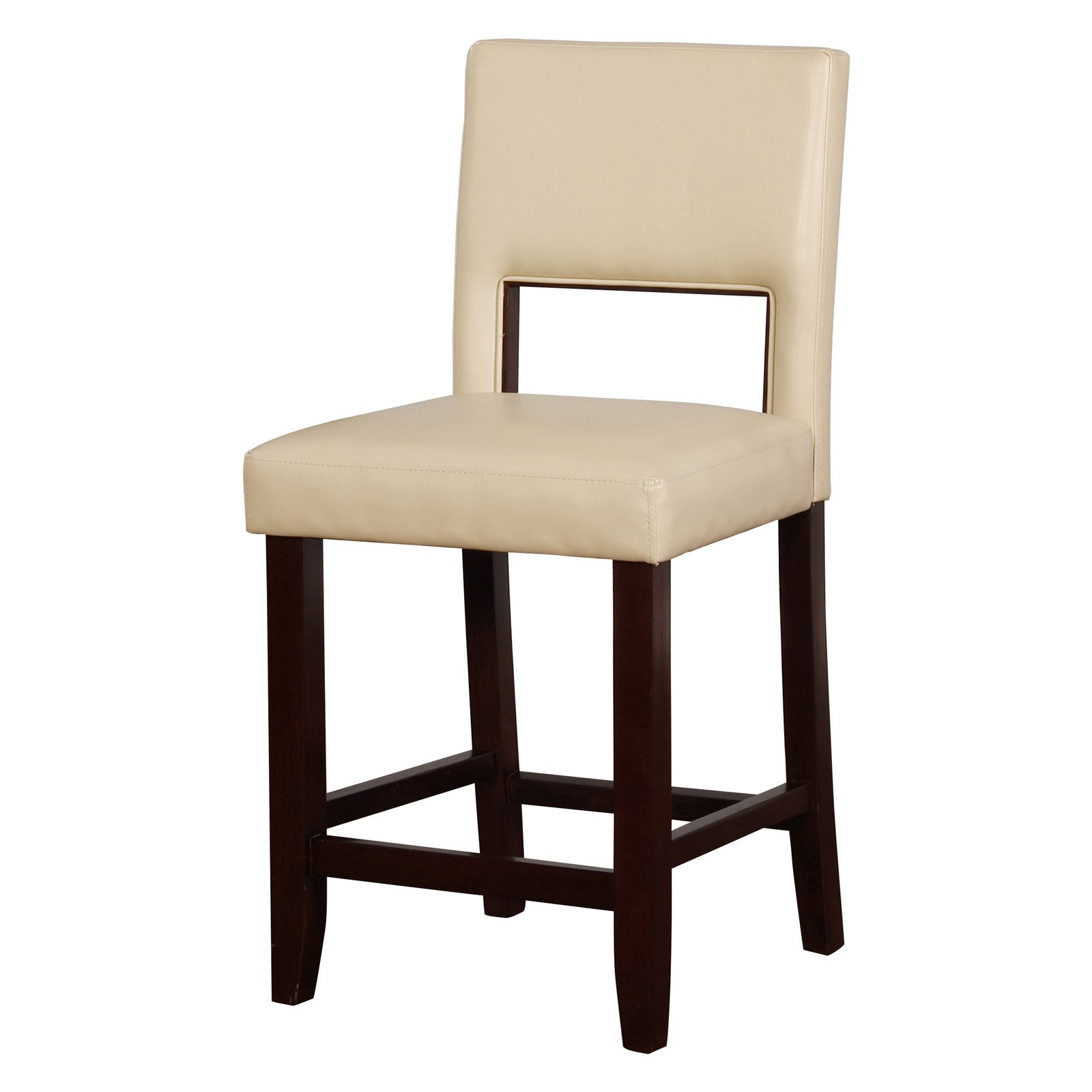 Linon Velma Counter Stool, 24 inch Seat Height, Multiple Colors