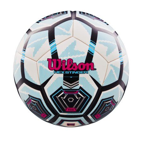 Wilson Hex Stinger Soccer Ball, Size 4 (Customized Soccer Balls)