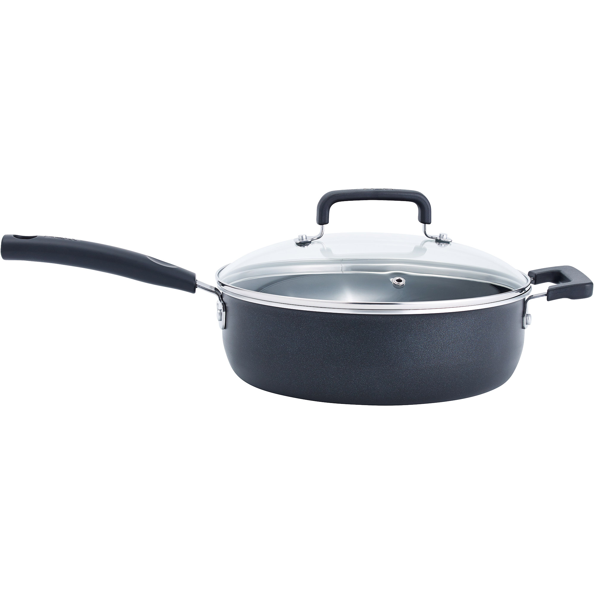 T-fal Signature Non-Stick 4.2-Quart Covered Jumbo Cooker, Black