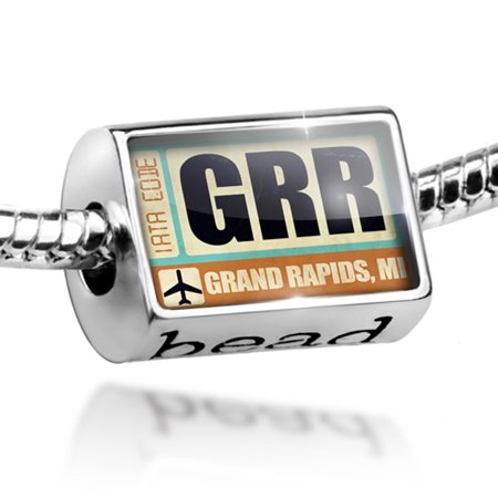 Bead Airportcode GRR Grand Rapids, MI Charm Fits All European Bracelets - Party City Grand Rapids Mi