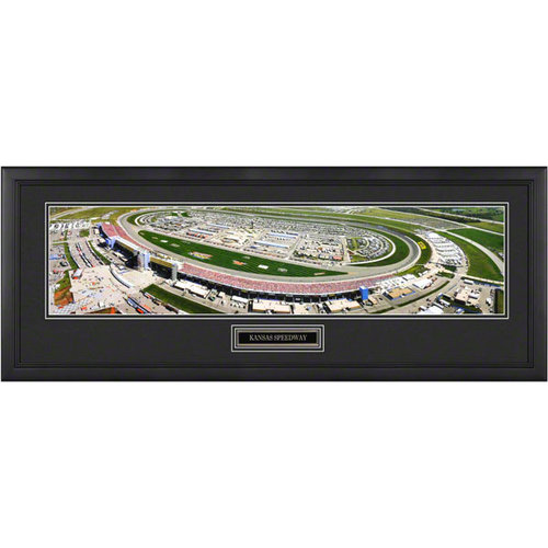Kansas Speedway - Aerial - Framed Panoramic with Engraved Plate