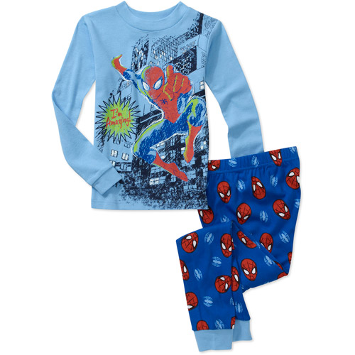 Marvel Spiderman Boys' 2 Piece Etch a Sketch Cotton Pajama Set