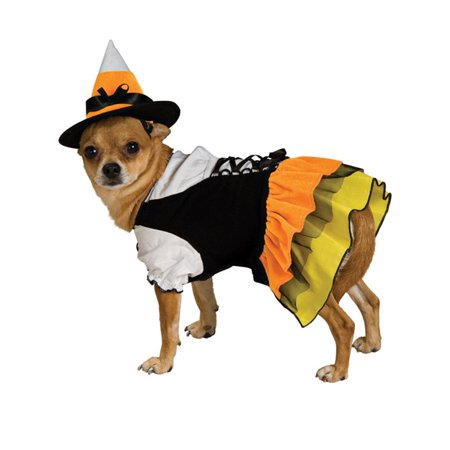 Candy Corn Witch Dog Halloween Costume - X-Small - Sonic Corn Dogs On Halloween