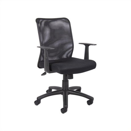 boss office mesh task office chair with t arms