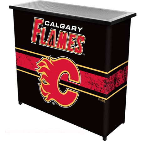 NHL Portable Bar with Carrying Case, Calgary Flames by