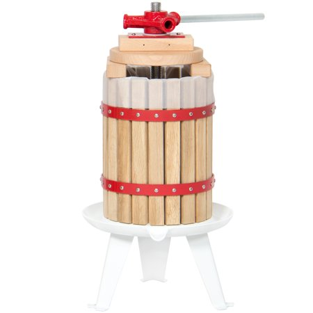 Best Choice Products 1.6-Gallon Tabletop Wooden Fruit and Wine Press Juicer Basket, Natural Home Juice and Cider