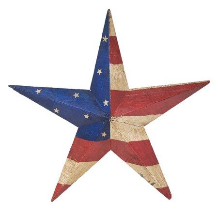Rustic Arrow USA 3D Wooden Star Outdoor Wall Art