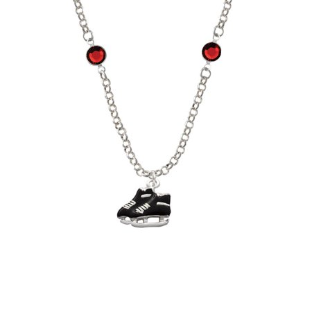 Black Ice Skates Red Crystal Fiona Necklace](Skate Jewelry)