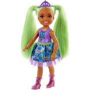 Barbie Dreamtopia Chelsea Sprite Doll, 7-Inch, With Green Hair Wearing Fashion And Accessories