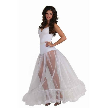 Adult White Ballroom Length Crinoline Skirt by Forum Novelties 66166