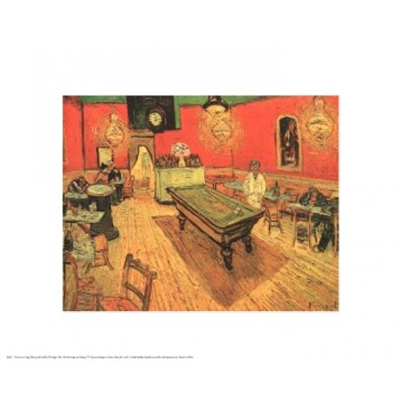 The Night Cafe with Pool Table Poster Print by Vincent van Gogh (20 x 16)