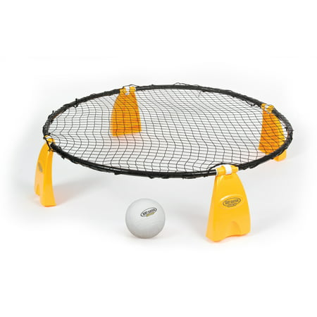 EastPoint Sports Go! Gater Gold Steel Spike 'N Smash; Fun Outdoor Entertainment Game Includes Sturdy Steel Frame with Easy Fold Design, Spike 'N Smash Ball, Inflation Pump and Game