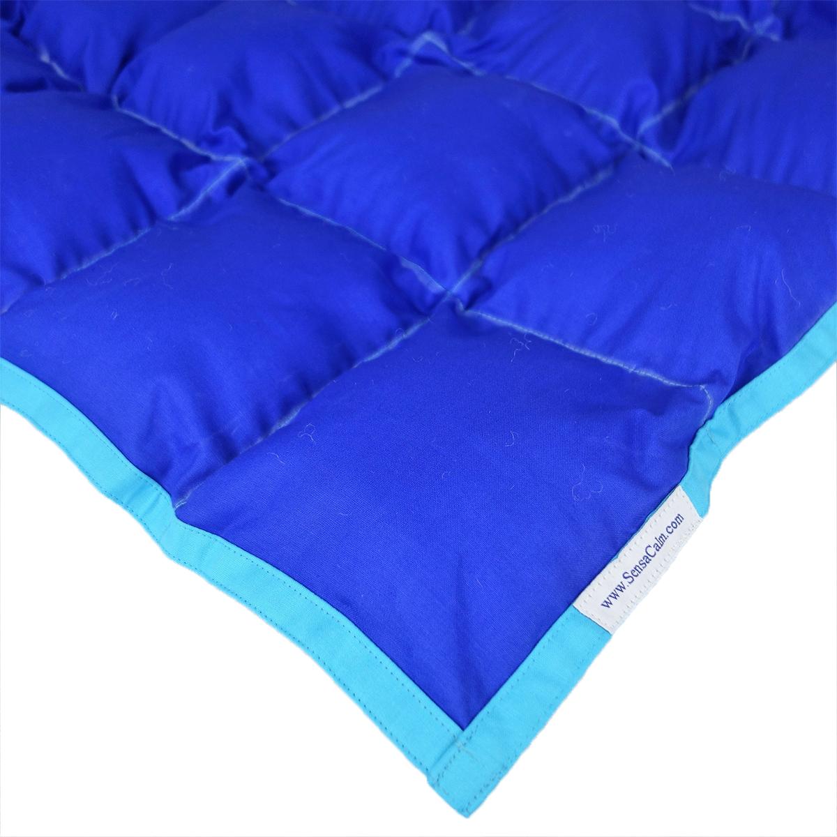SensaCalm Dazzling Blue w  Scuba Blue Small 5 lb Weighted Blanket by Sensacalm