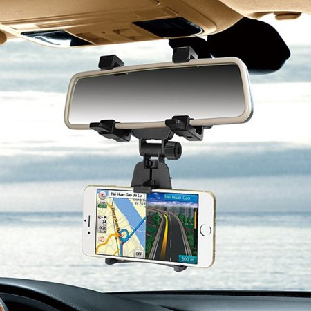 Universal Auto Car Rearview Mirror Mount Stand Holder Cradle for Cell Phone