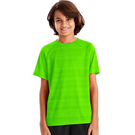 Sport Heathered Tech Tee Shirt for Boys - Forging Green Heather, Small - image 1 of 1