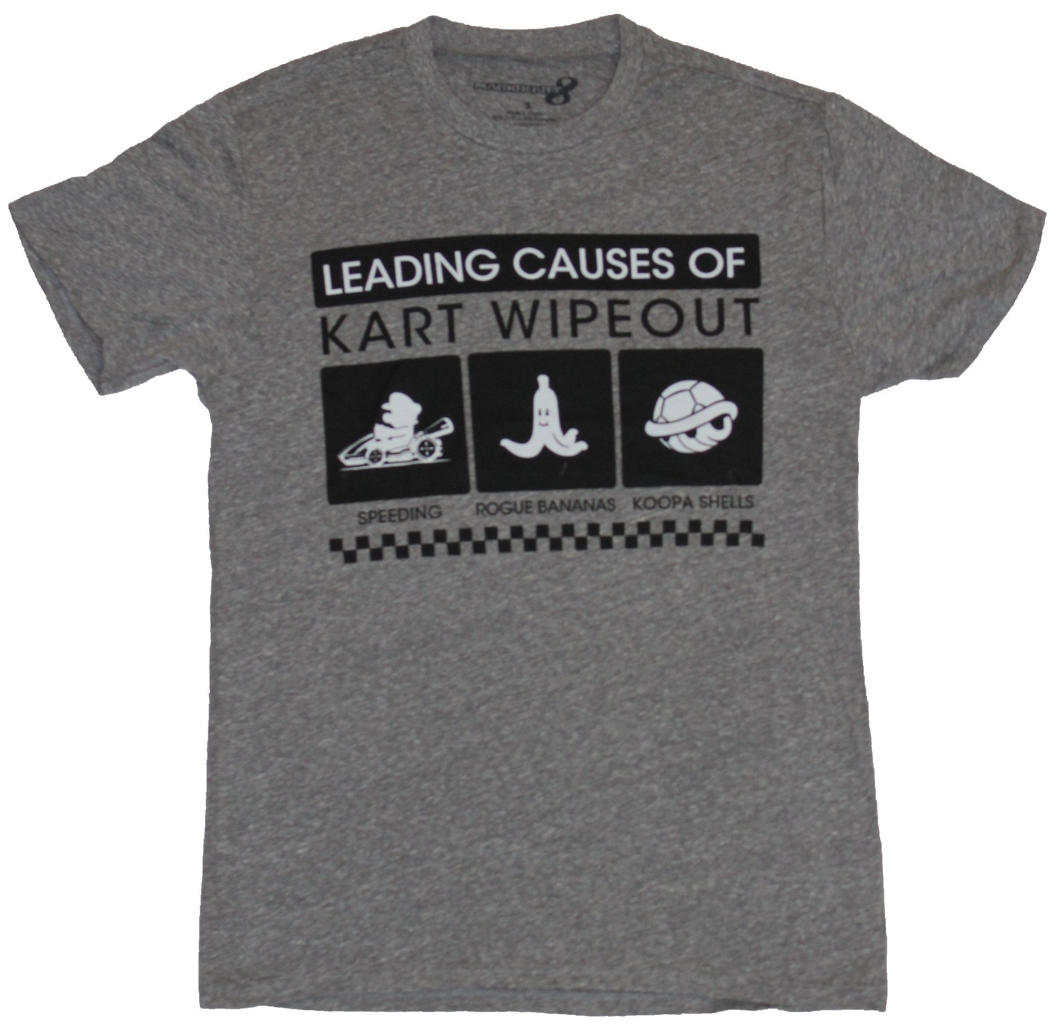 Mario Kart Mens T-Shirt - Leading Causes of Kart Wipeout Images