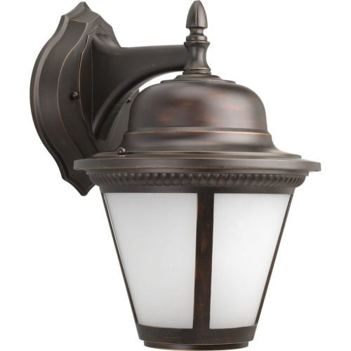 """Progress Lighting P5864-LED Westport LED Outdoor Wall Sconce with White Seeded Glass - 15"""" Tall"""