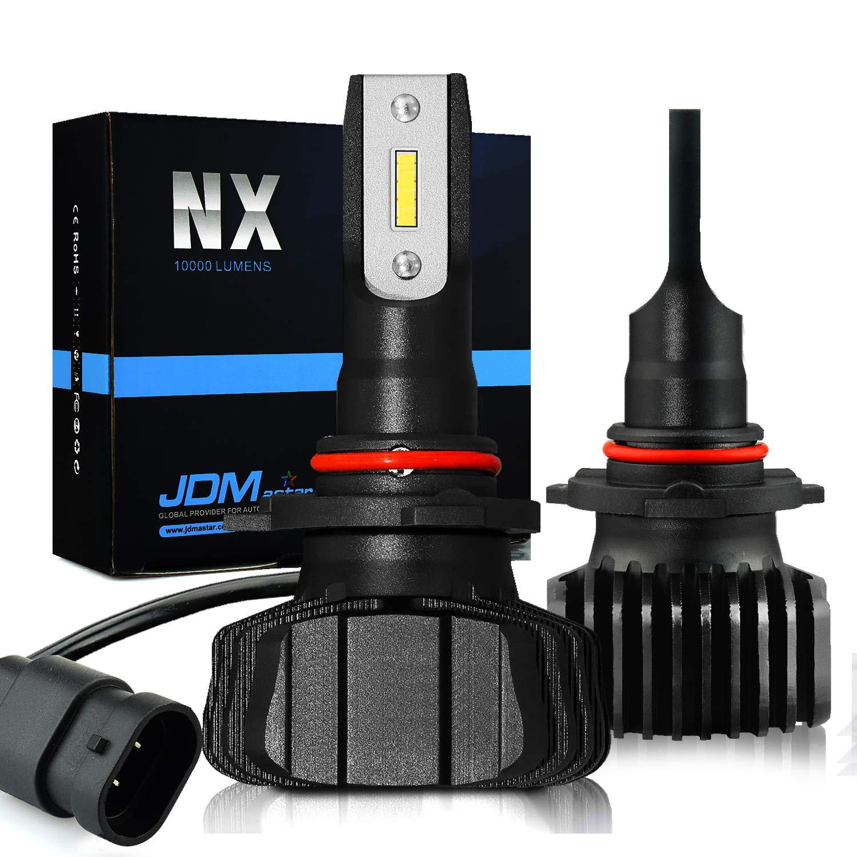 JDM ASTAR Newest Version NX 10000 Lumens Extremely Bright High Power 9012 All-in-One Fanless Design LED Headlight Bulbs, Fog Light Bulbs,Xenon White