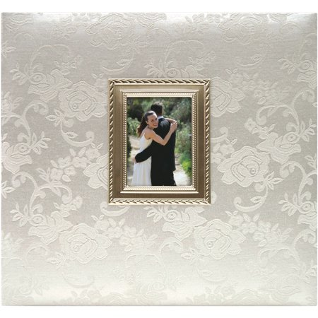 MBI Floral Fabric With Metal Frame Postbound Album, 12