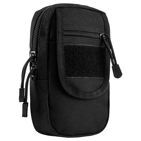 CVSUPL2965B Large Utility Pouch, Black, Main zippered compartment with separate divided internal pocket, 1 front flap zippered compartment, and 1 pocket under.., By VISM from