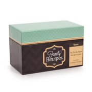Recipe Card Box Chalkboard Teal Includes 8 Tabbed Dividers