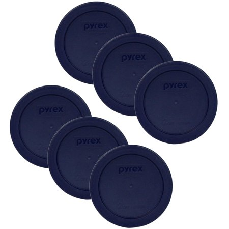Pyrex Blue 2 Cup Round Storage Plastic Cover 7200-PC For Glass Bowls (Pack Of 6)