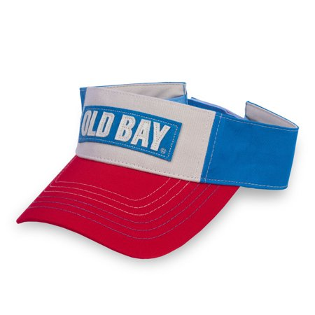 Old Bay Distressed Visor Hat Seasoning Spice Cap Crab Seafood (Seafood Gift)